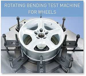 ROTATING BENDING TEST MACHINE FOR WHEELS
