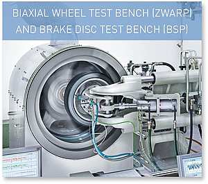 BIAXIAL WHEEL TEST BENCH (ZWARP) AND BRAKE DISC TEST BENCH (BSP)