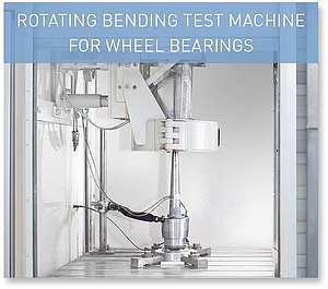 ROTATING BENDING TEST MACHINE FOR WHEEL BEARINGS