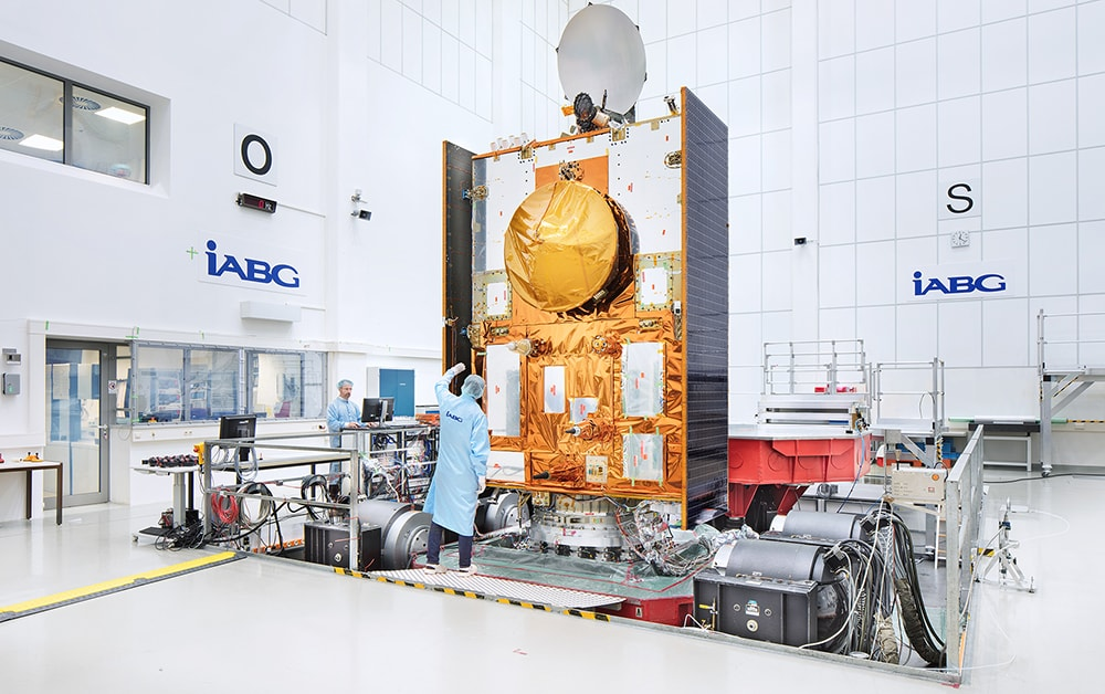 Sentinel-6/Jason-CS Satellite on IABGs 320kN Multi Shaker